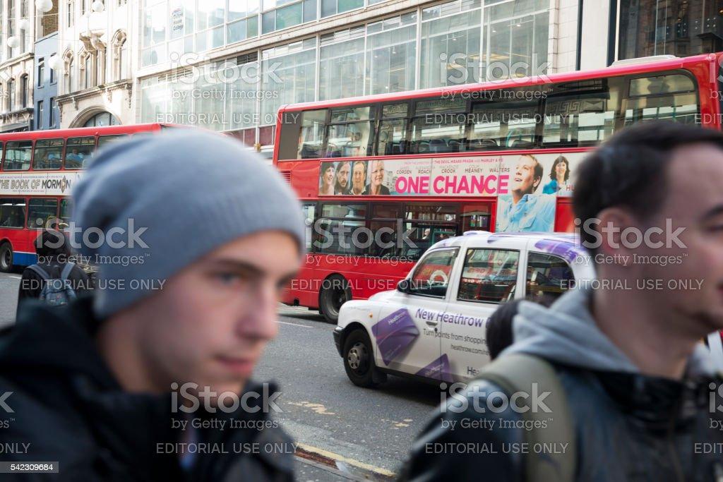Streets of London, England stock photo