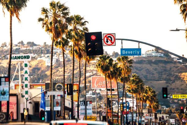 Streets of Los Angeles stock photo