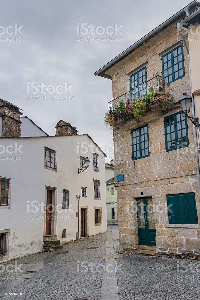 Streets of Lugo city royalty-free stock photo
