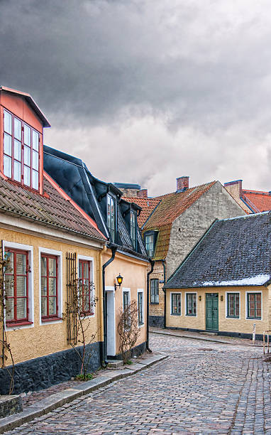 streets of lund - lund stock photos and pictures