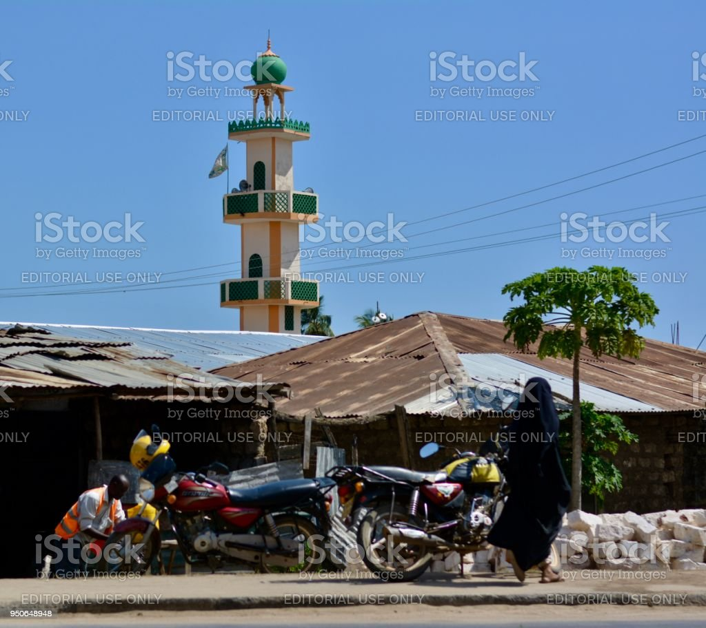 Streets of Malindi, muslim society.