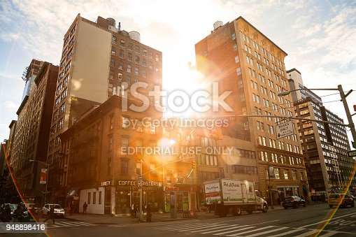 813211754 istock photo Streets of Manhattan in New York City 948898416