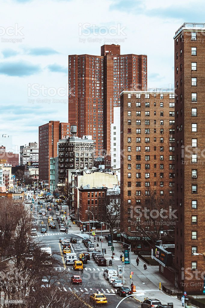 Streets of Manhattan, New York City. stock photo