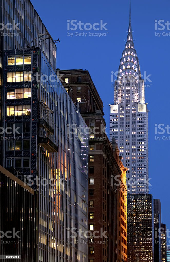 Streets of Manhattan royalty-free stock photo