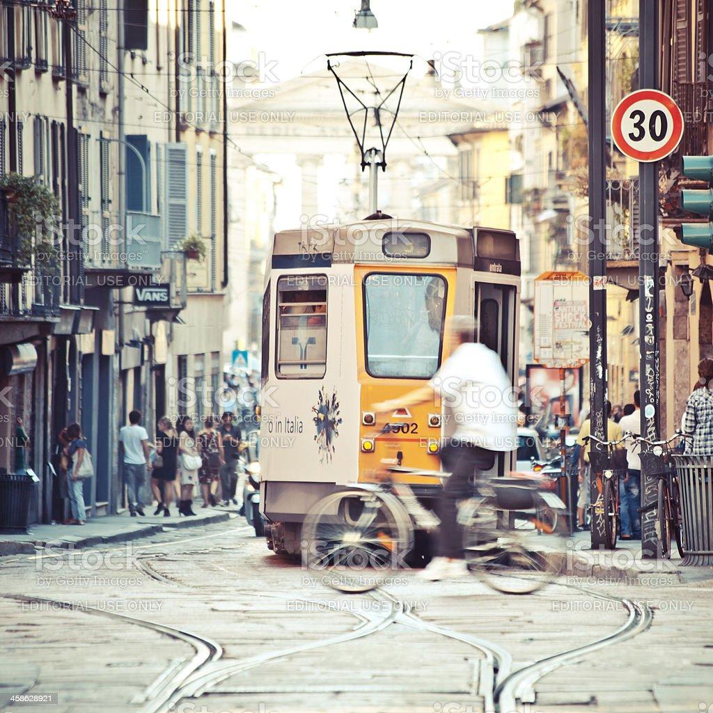Streets of Milan. stock photo