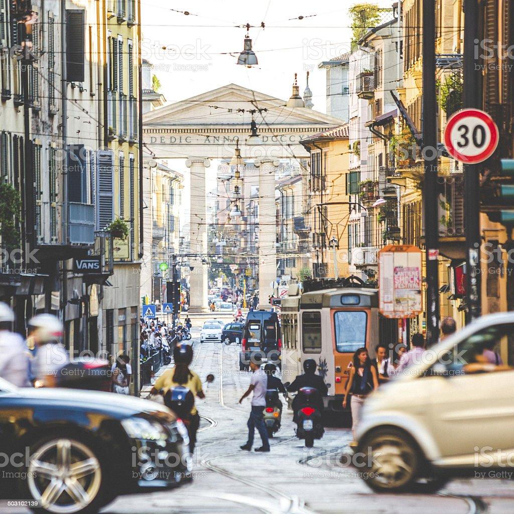 Strade di Milano. - foto stock