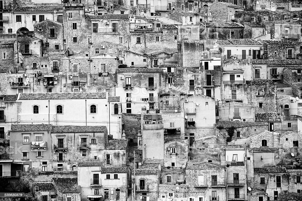 streets of Modica royalty-free stock photo