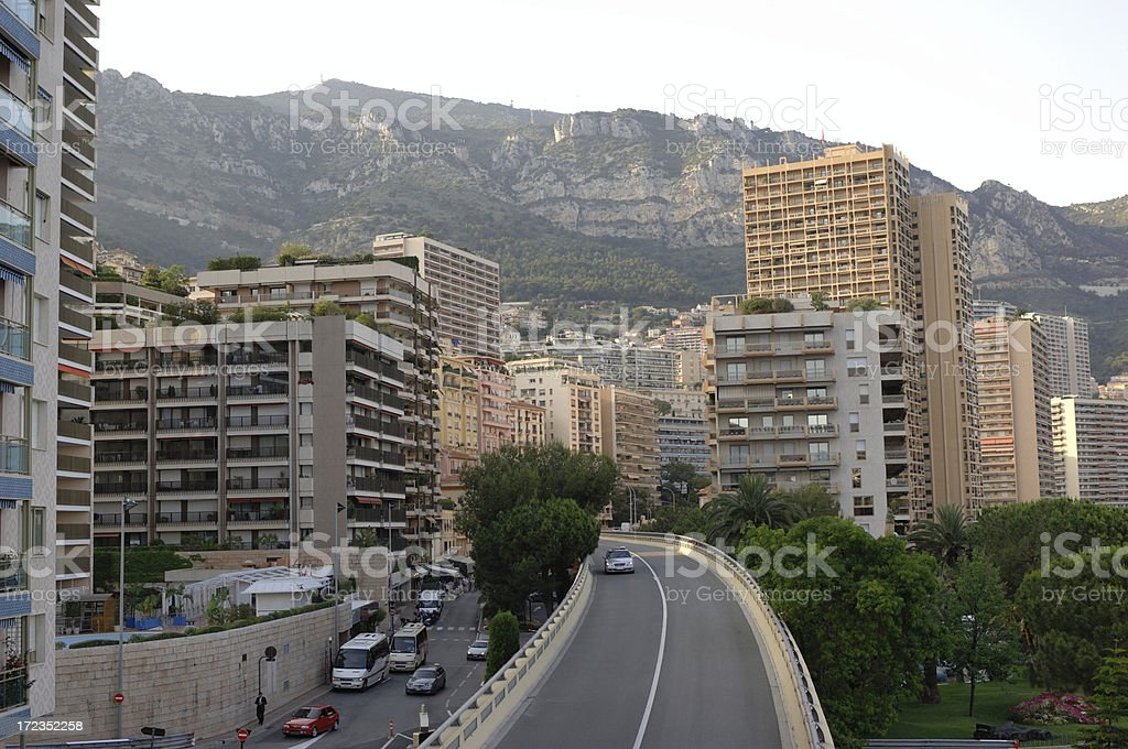 Streets of Monte Carlo - Monaco royalty-free stock photo