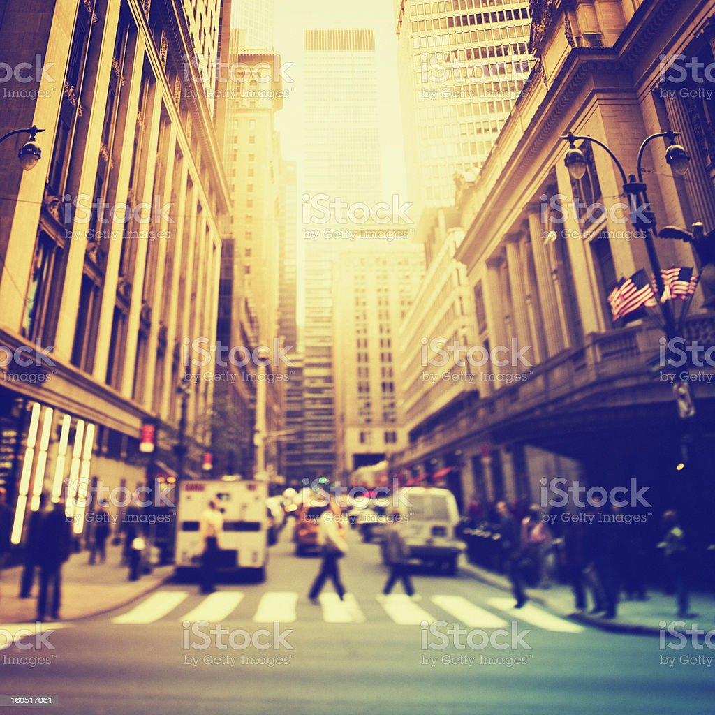Streets of New York City royalty-free stock photo