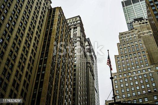 Streets of New York Wall Street. Shooting Location: Manhattan, New York