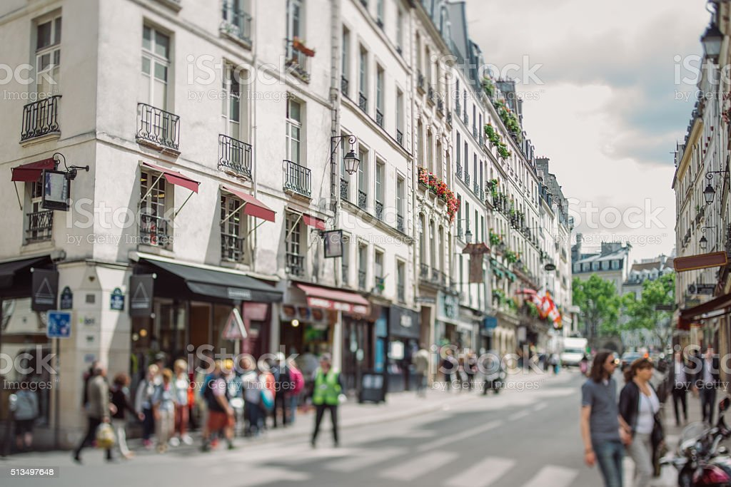 Streets of Paris royalty-free stock photo