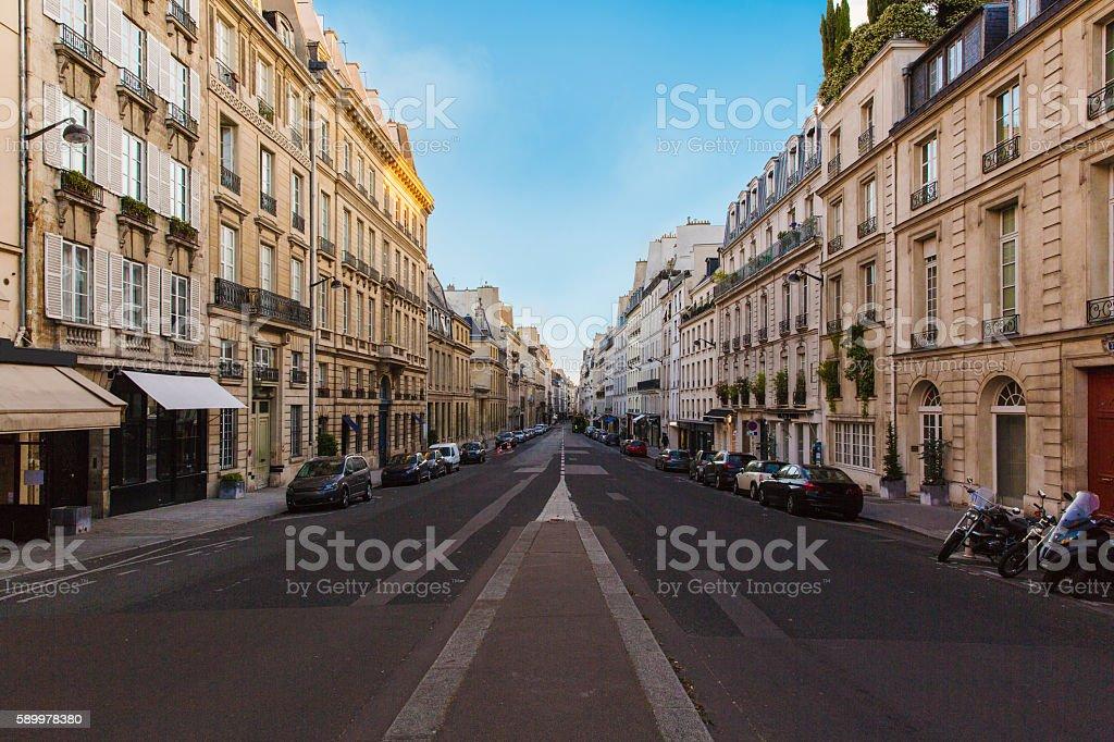 streets of paris stock photo