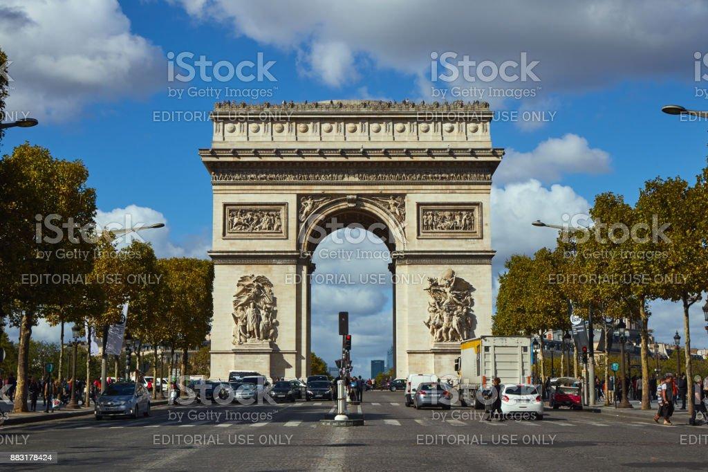 Streets of Paris . stock photo