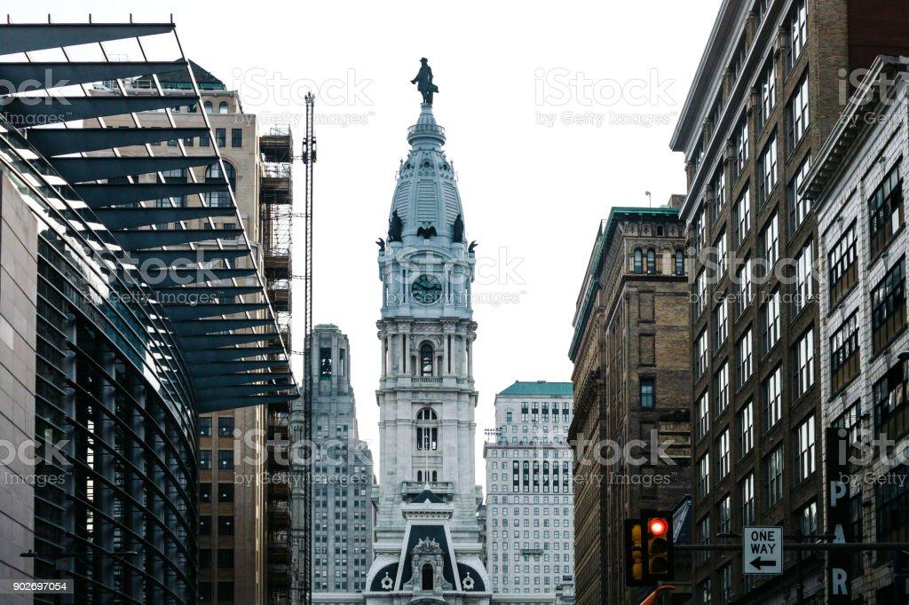Streets of Philadelphia stock photo