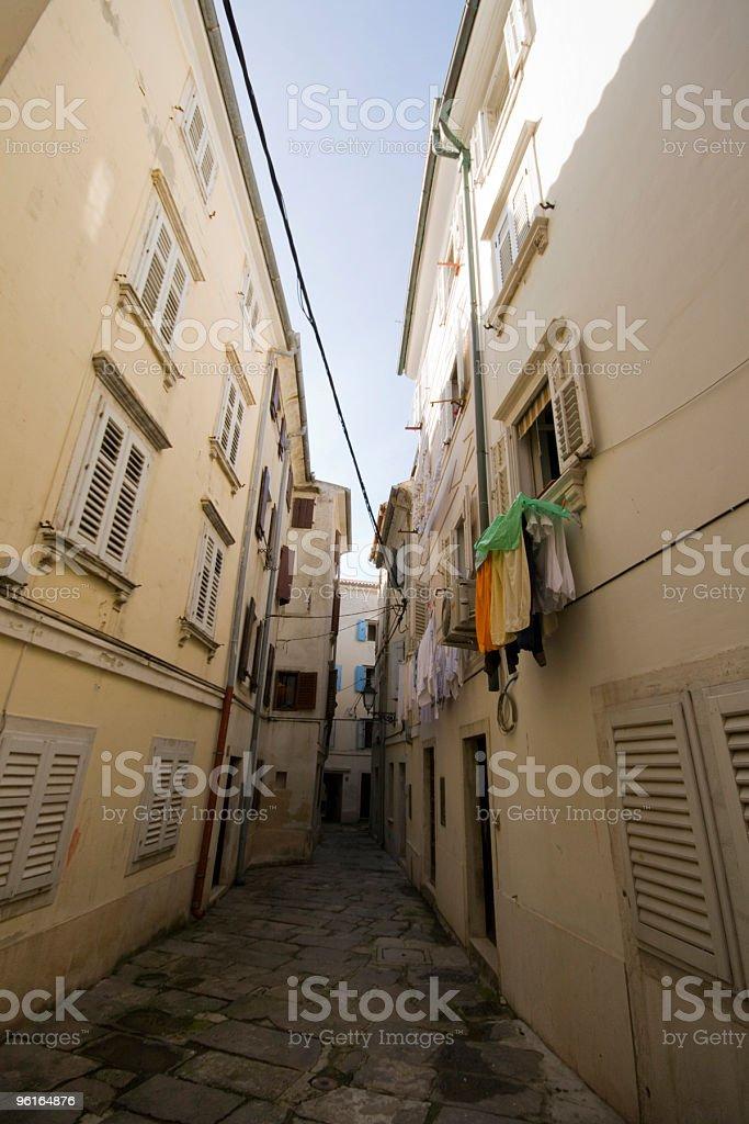 Streets of Piran royalty-free stock photo