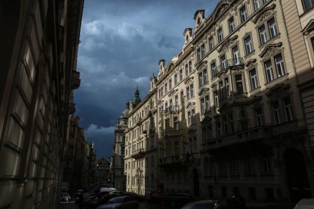 Streets of Prague stock photo