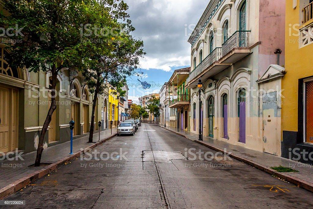 Streets of Puerto Rico stock photo