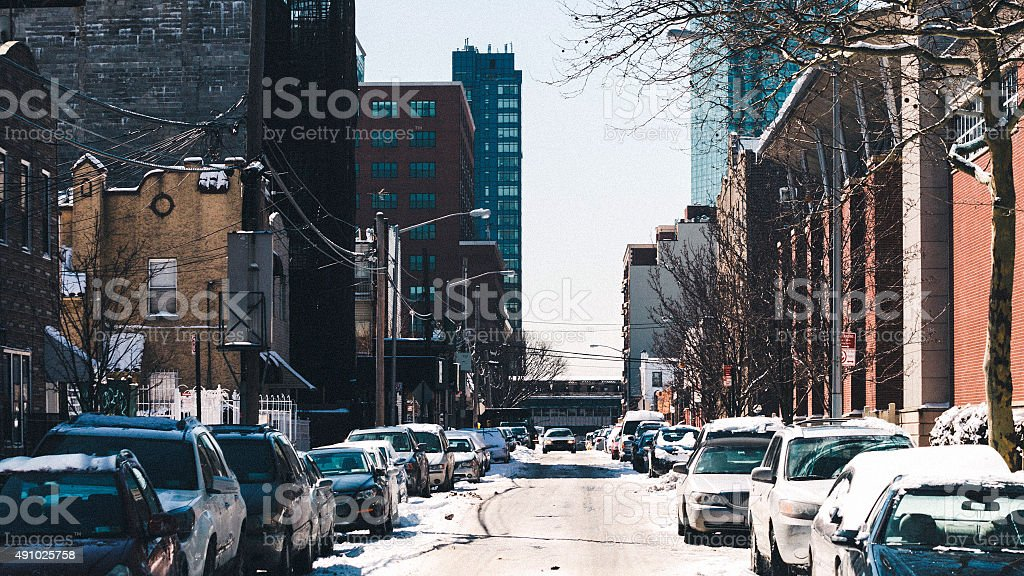 Streets of Queens, NY. stock photo