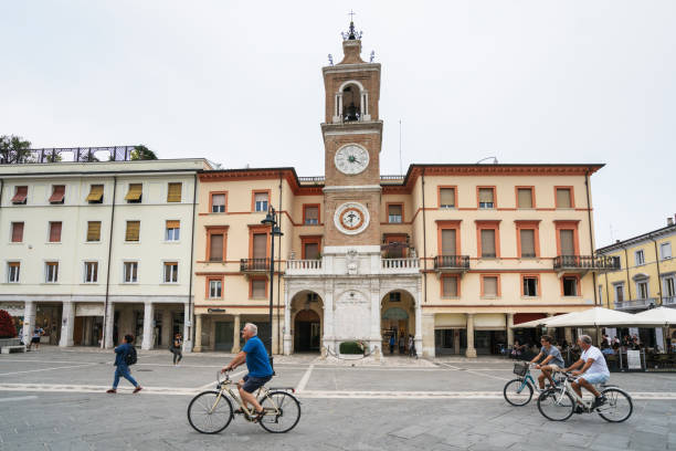 Streets of Ravenna stock photo