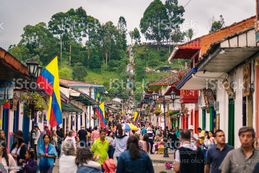 Streets Of Salento Quindio Colombia Stock Photo Download Image Now Istock