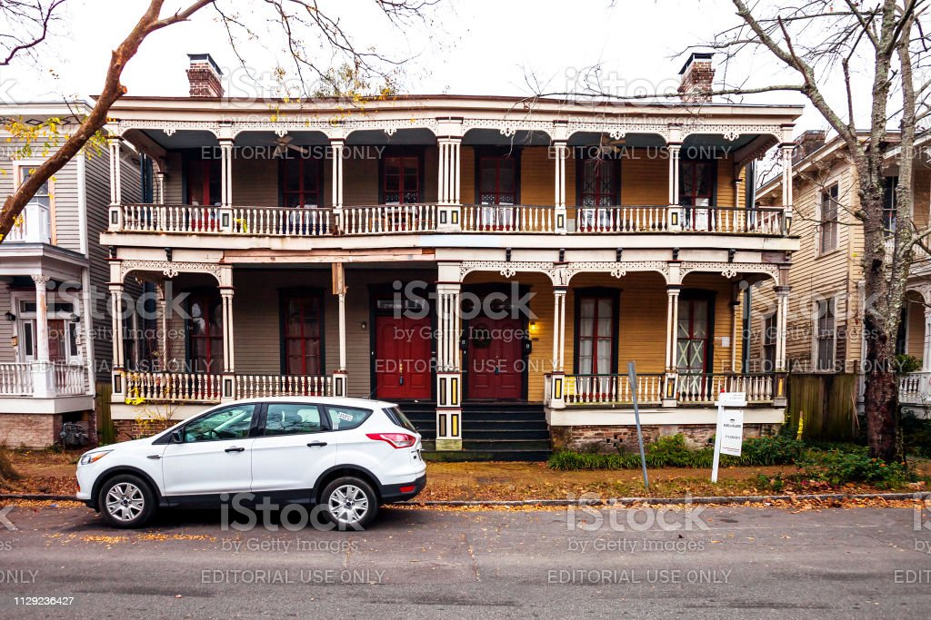 Streets of Savannah, Georgia stock photo
