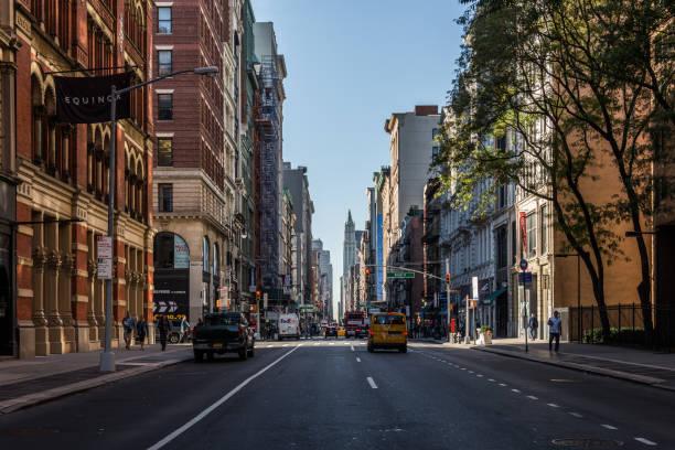 Ruas de SoHo NYC - foto de acervo