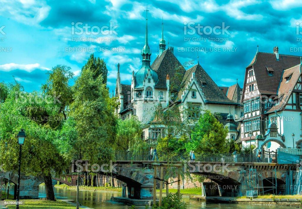 Streets of Strasbourg royalty-free stock photo