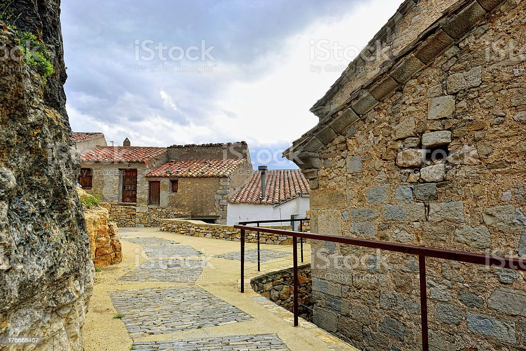Streets of the small old town Ares in Spain. royalty-free stock photo
