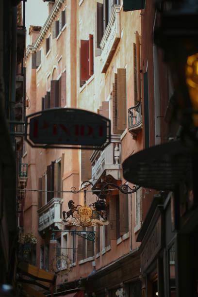Streets of Venice Italy stock photo