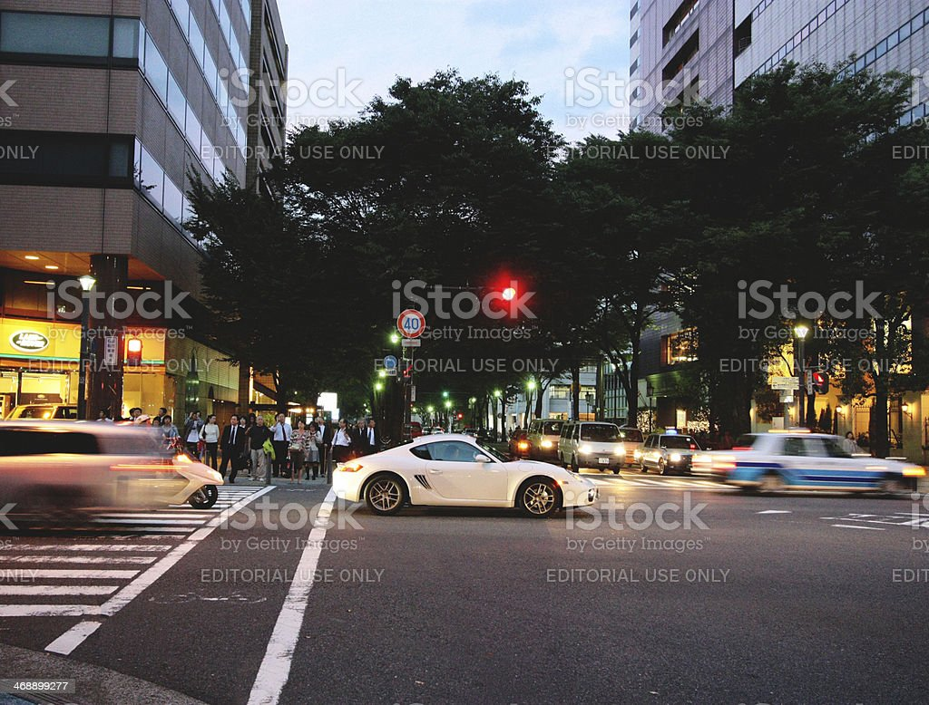 Streets of Yokohama stock photo