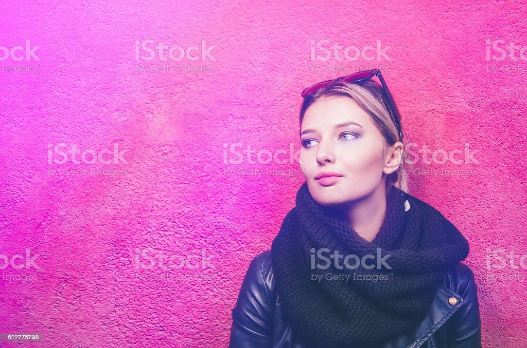 Street's portraits of teenager stock photo