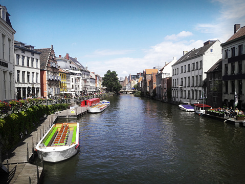 Streets turned into water channels in Ghent
