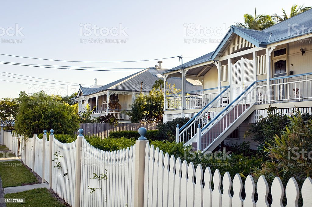 Streetscape in Queensland stock photo