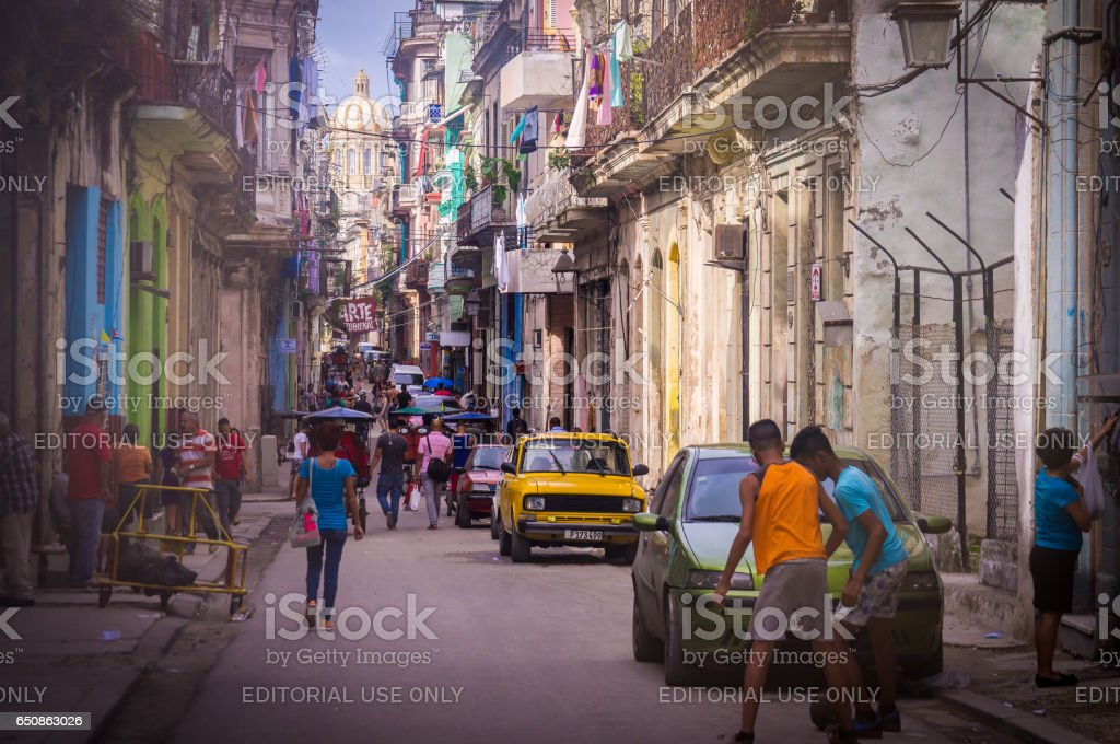Streetscene in Havana, Cuba stock photo