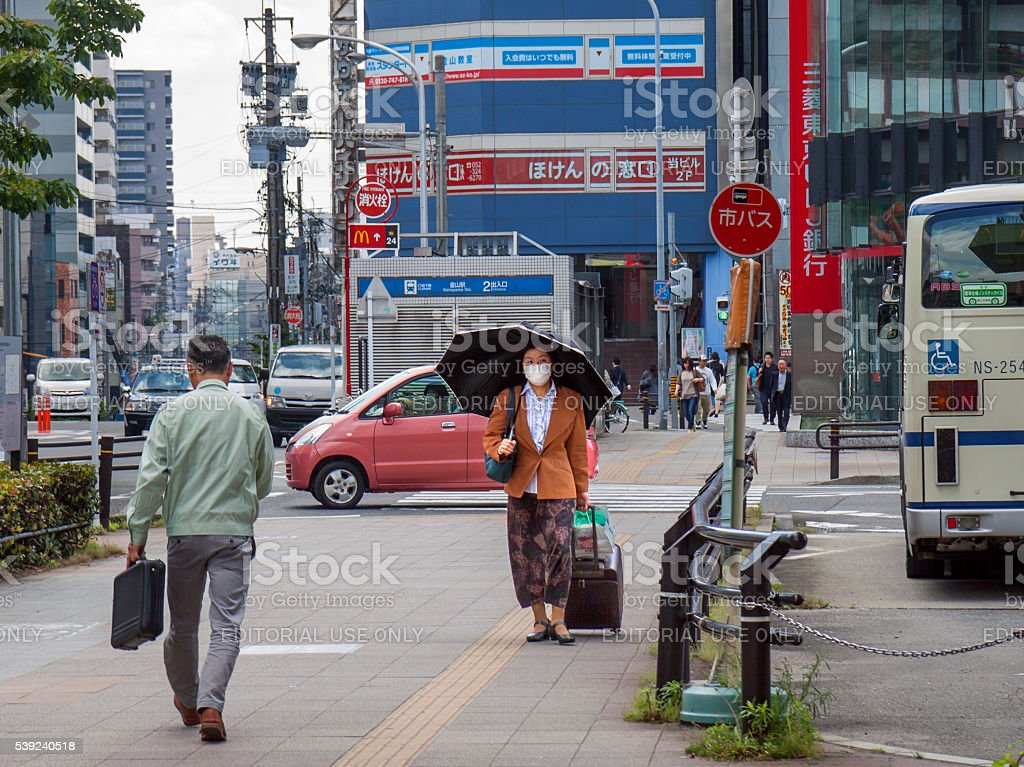 Streetscene in Nagoya, Japan royalty-free stock photo