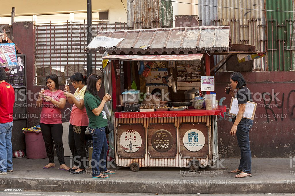 Street-side stall in Intramuros, Manila royalty-free stock photo