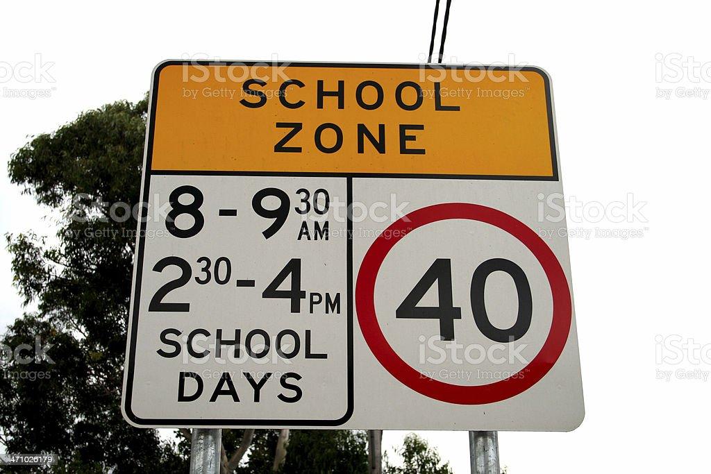 Streetsign: School Zone stock photo