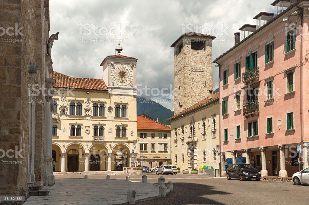 Streetview Belluno, Italia settentrionale - foto stock