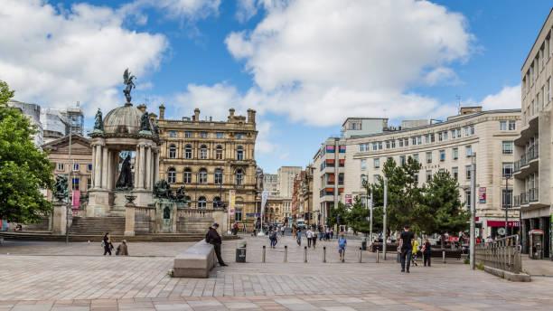 Streetview Durby plein in Liverpool foto