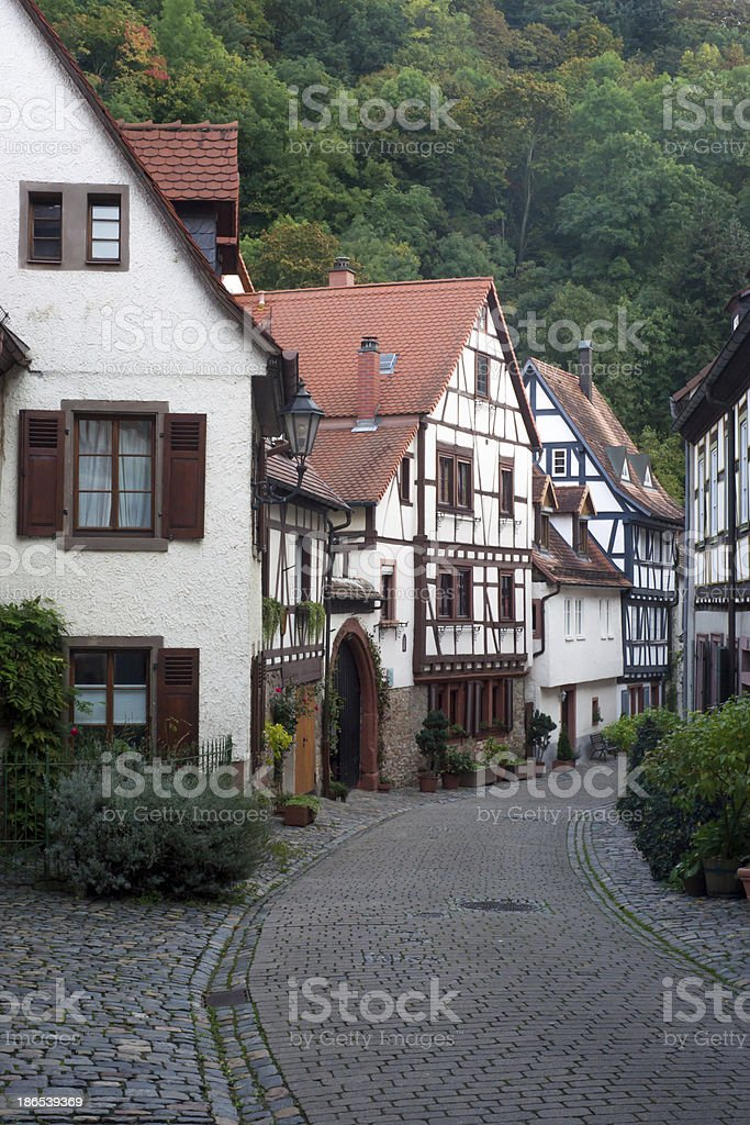 Streetview from historical Central European city. royalty-free stock photo