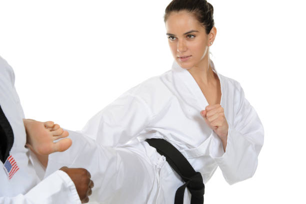 strength and attitude - martial arts gerville stock photos and pictures