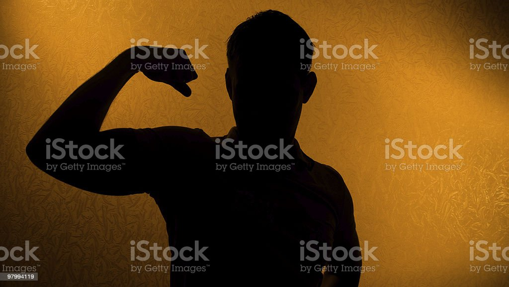 Strength and health - silhouette of man royalty-free stock photo