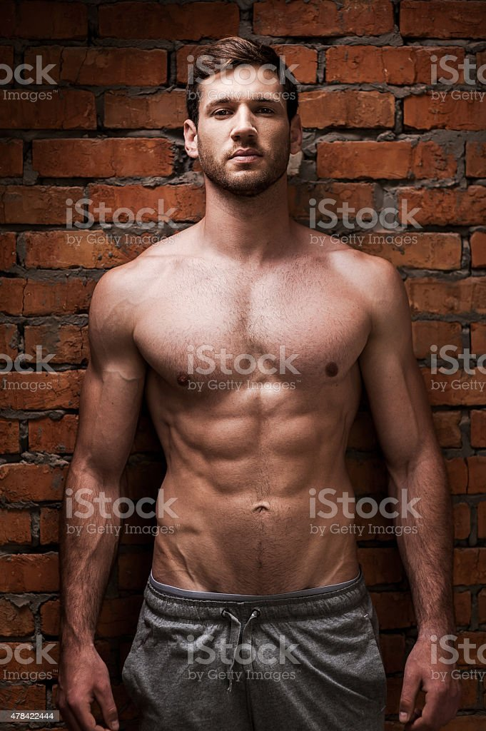 Strength and masculinity. stock photo