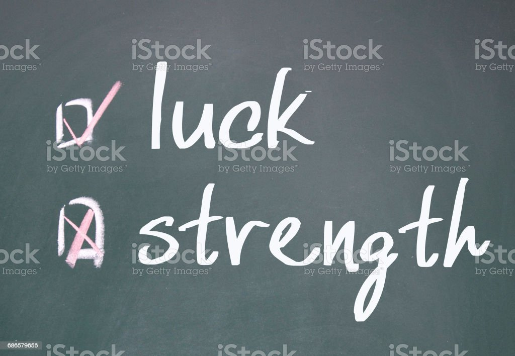 strength or luck determine zbiór zdjęć royalty-free
