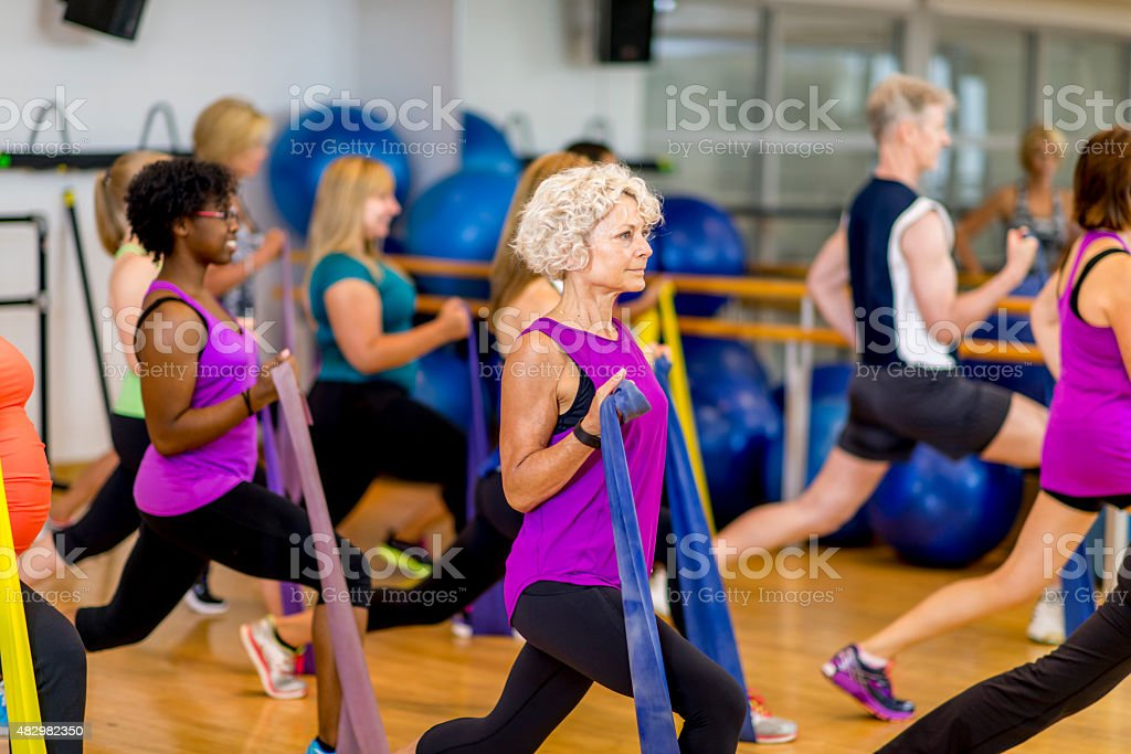 Strength Training Class stock photo