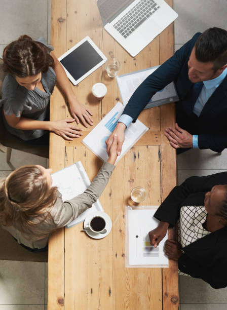 Strengthening business networks to maximise on success stock photo