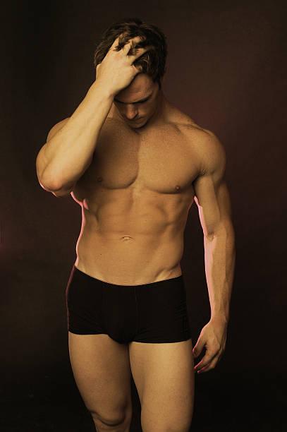 stress 2 Male muscle stock photo