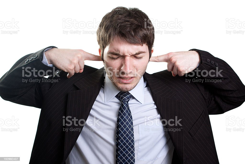 Stress and noise concept stock photo