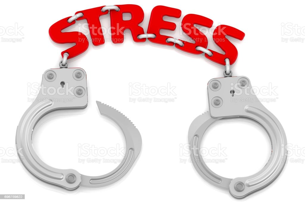 Stress as a limiter of freedom stock photo