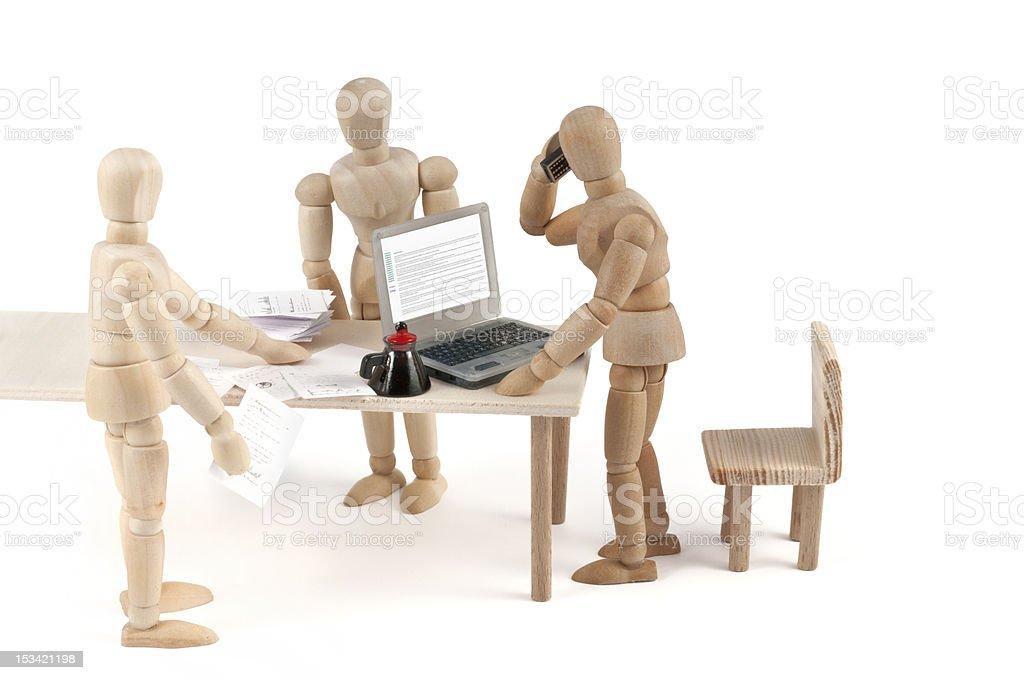 stress at office - modern communication stock photo
